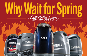 "Yamaha Marine Announces ""Why Wait For Spring"" Sales Event"